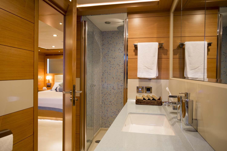 PANFELISS-Mengi Yay-Yacht For Charter-VIP Stateroom Bathroom