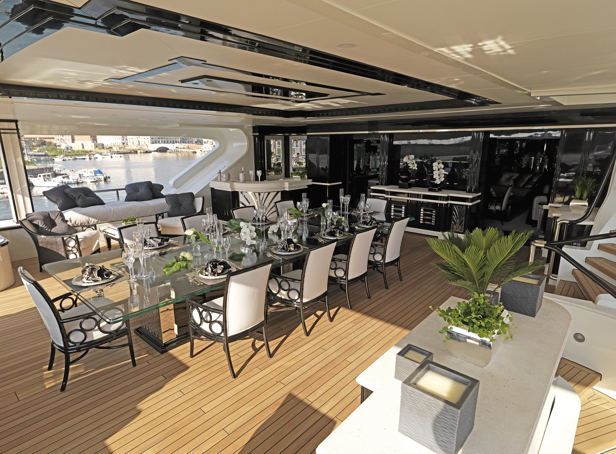 Silver-Angel-Benetti-Yacht-For-Charter-Bridge-deck-aft
